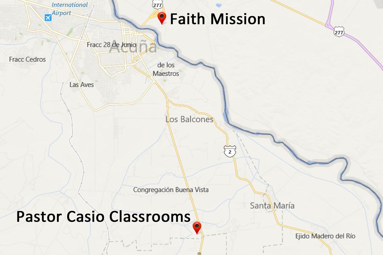 Pastor Casio Classrooms Map