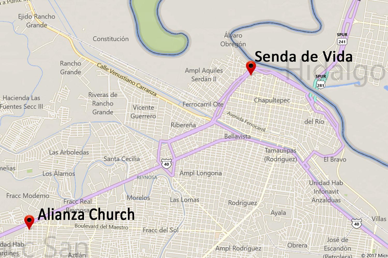 Senda de Vida Apartments Map