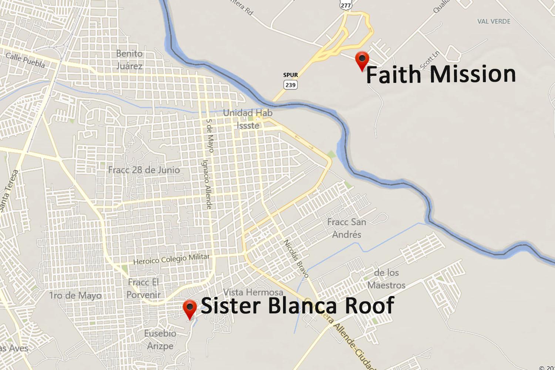Sister Blanca Roof Map